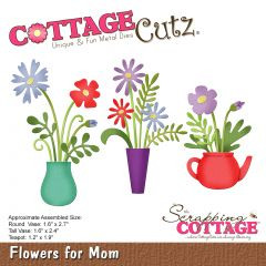 """Cottagecutz Die Flowers For Mom 1.2"""" To 2.7"""" - CC454"""