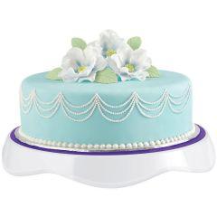 "Tilt N Turn Ultra Cake Turntable 12"" Round Purple & White - W307121"