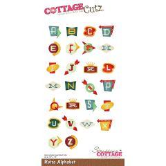 "Cottagecutz Die Retro Alphabet Up To 1.5"" - CC475"
