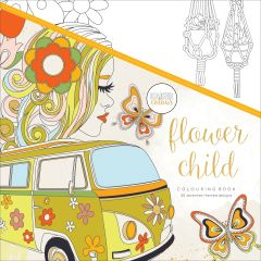"""Kaisercolour Perfect Bound Coloring Book 9.75""""X9.75"""" Flower Child - CL519"""