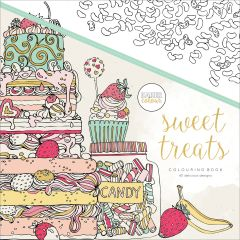 """Kaisercolour Perfect Bound Coloring Book 9.75""""X9.75"""" Sweet Treats - CL521"""