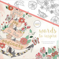 """Kaisercolour Perfect Bound Coloring Book 9.75""""X9.75"""" Words To Inspire - CL525"""