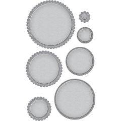 Spellbinders Nestabilities Dies Fancy Edged Circles - S4903