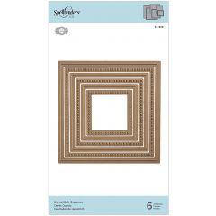Spellbinders Shapeabilities Dies Hemstitch Squares - S4929