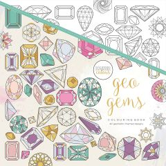 """Kaisercolour Perfect Bound Coloring Book 9.75""""X9.75"""" Geo Gems - CL532"""