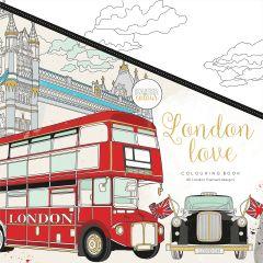 "Kaisercolour Perfect Bound Coloring Book 9.75""X9.75"" London Love - CL538"
