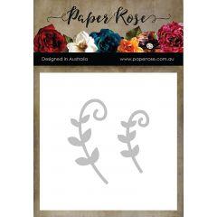 Paper Rose Dies Leaf Scrolls - PR16793
