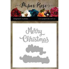 Paper Rose Dies Merry Christmas - PR16877