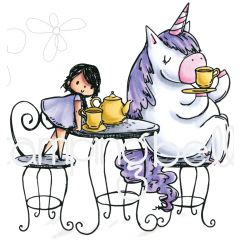 Stamping Bella Cling Stamps Rosie & Bernie Have A Tea Party - EB644