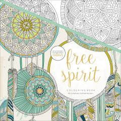 "Kaisercolour Perfect Bound Coloring Book 9.75""X9.75"" Free Spirit - CL502"