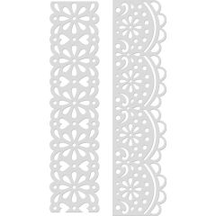 "Kaisercraft Card Creations Dies Lace Borders 1.5""X6"" - DD755"