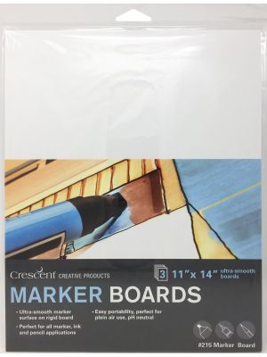 "Crescent Illustration Board 3//pkg-11/""x14/"" White"