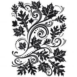 """Embossing Folder 4.25""""X5.75"""" Fall Leaf Background - EB12-18-33"""