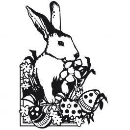 "Embossing Folder 4.25""X5.75"" Easter Bunny - EB12-18-43"