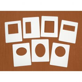 Easy Frames For A2 Embossing Folders 7/Pkg  - EZFRAME