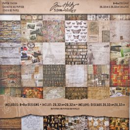 "Idea Ology Paper Stash Double Sided Paper Pad 8""X8"" 36/Pkg Collage, 36 Designs/1 Each - TH93054"