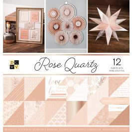 "Dcwv Double Sided Cardstock Stack 12""X12"" 36/Pkg Rose Quartz, 12 Designs/3 Each - PS005561"