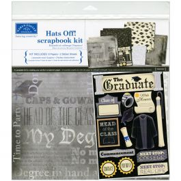 "Karen Foster Scrapbook Page Kit 12""X12"" Hats Off! Graduation - KF20521"