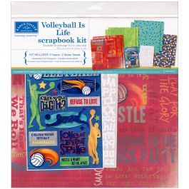 """Karen Foster Scrapbook Page Kit 12""""X12"""" Volleyball Is Life - KF20525"""