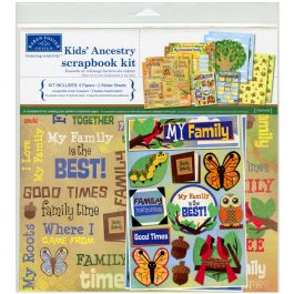 "Karen Foster Scrapbook Page Kit 12""X12"" Kids' Ancestry - KF20526"