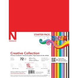 """Neenah Creative Collection Cardstock Pack 8.5""""X11"""" 72/Pkg 18 Bold & Vivid Colors - 4640702"""