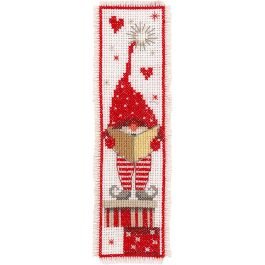 "Vervaco Bookmarks Counted Cross Stitch Kit 2.5""X8"" Christmas Gnomes 2/Pkg (14 Count) - V0165984"