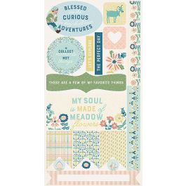 "Meadow Double Sided Cardstock Die Cut Sheet 6""X12"" Accents - MEA009"