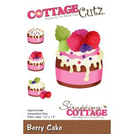 "Cottagecutz Die Berry Cake 1.5""X1.5"" - CC451"