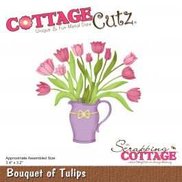 "Cottagecutz Die Bouquet Of Tulips 3.4""X3.2"" - CC452"