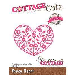 """Cottagecutz Elites Die Daisy Heart 3.5""""X2.5"""" - CCE501"""