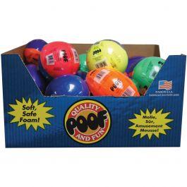 Mini Foam Ball Assortment Display Assorted Colors - 8-558