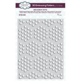 "Creative Expressions 3D Embossing Folder 5.75""X7.5"" Decadent Dots - EF3D-004"