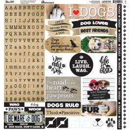 "Love My Dog Alpha Stickers 12""X12""  - LMD100"