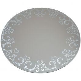 "Round Glass Mirror W/Pattern Edge Bulk 12"" - 1635-96"