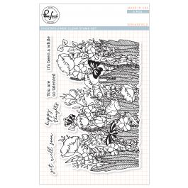 "Pinkfresh Studio Clear Stamp Set 4""X6"" Springfield - PFCS3418"