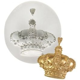 Ny Cake White Silicone Mold Royal Crown - SM203