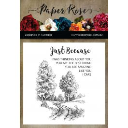 Paper Rose Clear Stamps Into The Woods - PR17478