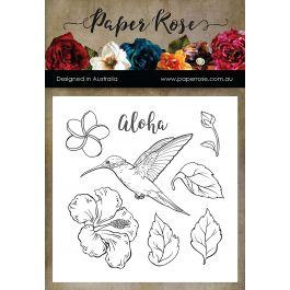 Paper Rose Clear Stamps Hummingbird Garden - PR17475