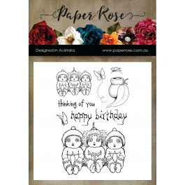 Paper Rose Clear Stamps Snugglepot, Cuddlepie & Raggedy Blossom - PR17310
