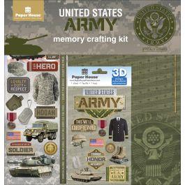 "U.S. Military Page Kit 12""X12"" Army - KTSP-1017E"