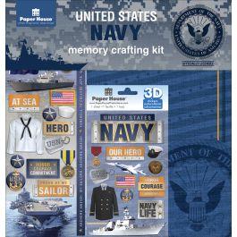 "U.S. Military Page Kit 12""X12"" Navy - KTSP-1019E"
