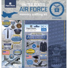"U.S. Military Page Kit 12""X12"" Airforce - KTSP-1016E"