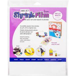 """Grafix Inkjet Shrink Film 8.5""""X11"""" 50/Pkg White - KSF50IJ-W"""