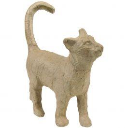 """Paper Mache Figurine 4.5"""" Cat - AP-583"""