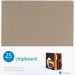 """Silhouette Chipboard 12""""X12"""" 25/Pkg  - SILCHIP"""