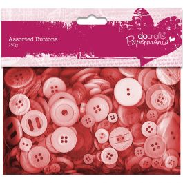 Papermania Buttons Assorted 250G Red - PM354304
