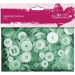 Papermania Buttons Assorted 250G Green - PM354307