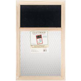 """Chalk Board & Chicken Wire Frame 13.75""""X22""""  - 91909632"""