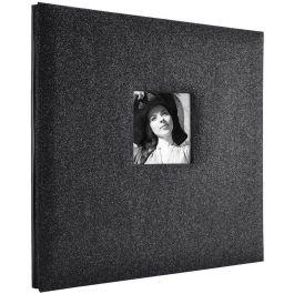 "Mbi Expressions Post Bound Album W/Window 12""X12"" Glitter Black Diamond - 860133"
