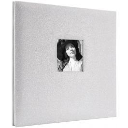 "Mbi Expressions Post Bound Album W/Window 12""X12"" Glitter Off White - 860135"
